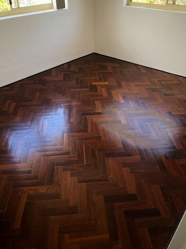 Bleached Wood Floors-Before